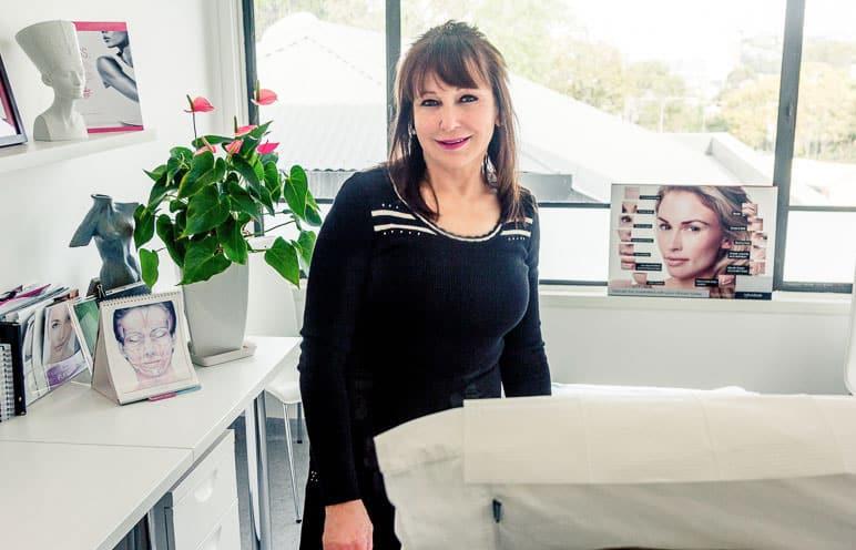 Sally Sheehan in a Skin Renu treatment room