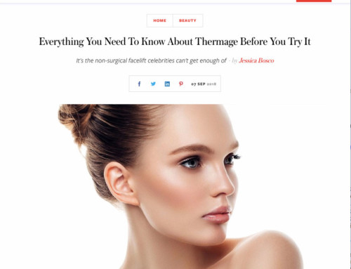 Marie Claire editor visits Skin Renu for Thermage