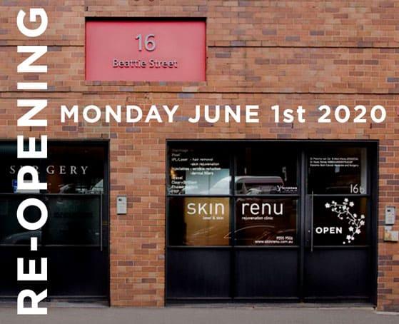 Skin Renu reopening-june 1st